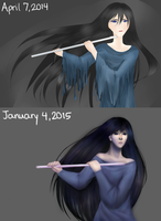 Flute: Before and After by maristheotter