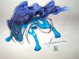 Suicune - Divine North Wind by Kagamikage