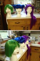 Mew Mew wigs by birdewilliams