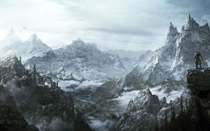 Skyrim Mountain Landscape 1 by Ignis-et-Ultio