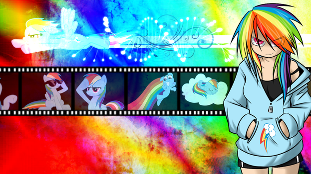 Rainbow Dash Wallpaper by KelCasual