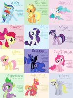 Pony Zodiac by Poniesr4girlsHLLNO