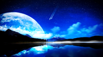 Crescent Moon (~Raven9000111 request)(Wallpaper) by Hardii