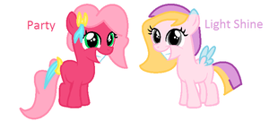 MLP Adopted OC's - Party and Light Shine by Appimena