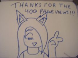 THANKS FOR THE 400 PAGEVIEWS by DeiDei-Neko