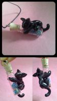 Black Cat Vial by balletvamp