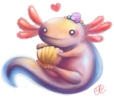 Axolotl by shiropanda