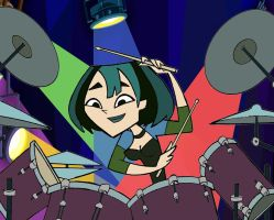 Gwen Drumming by corbinace