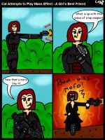 Cat Attempts to Play Mass Effect - A Girl's Best F by GohokeKitty