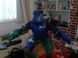 My own homemade halo armor XD by KindiChan