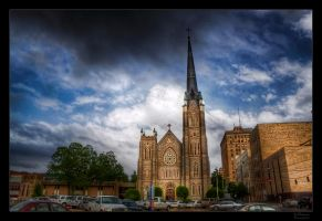 Downtown Church HDR II by joelht74