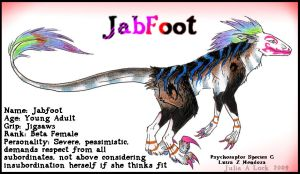 Psychoraptor Jabfoot by ghost-eye