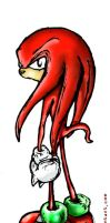 Knux in a bad mood by sheefo