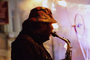 Saxophone player - HFoL 2010 by philpem