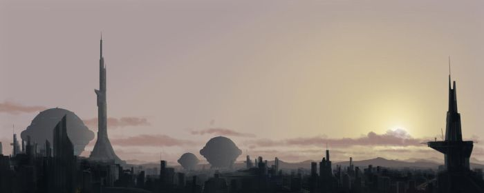 Perry Rhodan - Kugelraumer at sunset by Luckland