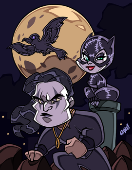 CATS and CROWS by AnyaUribe