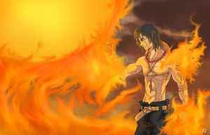 Portgas D. Ace by bustercloud