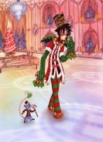 Christmassy masquerade Ink by ArtistsBlood