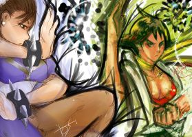 MAKOTO AND CHUNLI by ultimatewp