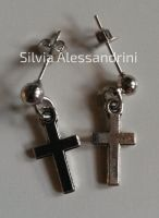 Cross earrings by SilvieTepes