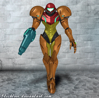Super Smash Bros. for Wii U - Samus Aran Powersuit by Sticklove