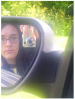 Car Mirror Portrait. by Helen--127