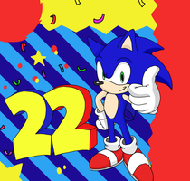 22 years of Sonic! by SpongeDudeCoolPants