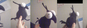 Wingless Crow Plushie by Miniskirt
