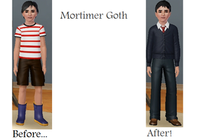 Sims Makeover: Mortimer Goth by Soraply11