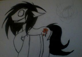 Jeff The Killer Pony by EmoRaverGirl