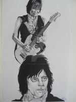 The Greatest... Jeff Beck by LVMysticmirrorsart