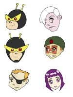 Venture Brothers Sticker Set 2 by CynicalSniper