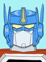 Colored Transformers Armada Optimus Prime by razzitron