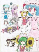 Touhou Project Drawing Dump by Nori-es