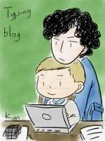 Sherlock and John by tootiredtothinkone