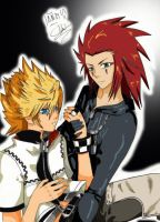 Roxas and Axel-Part 2 by InnocenceShiro