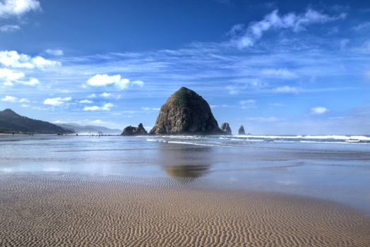 HDR Sand Ripples, Cannon Beach by photoboy1002001