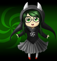 Chibi Jade - Witch of Space by dontevenknow-anymore