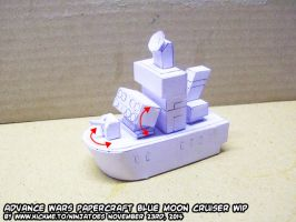 Papercraft Advance Wars BM Cruiser test build by ninjatoespapercraft