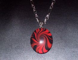 Lentil Bead In Red and Black by Eldessia