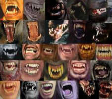 Werewolf Teeth by chowduke