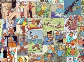 Tintin Collage by kandyspots by TheTintinClub