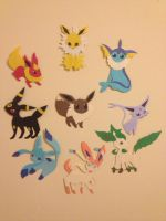 Eeveelution Paper Dolls by KirariRinkan