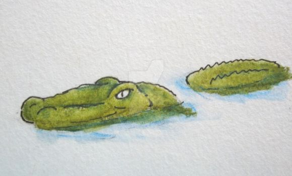 Croc Card Doodle by superpower-pnut