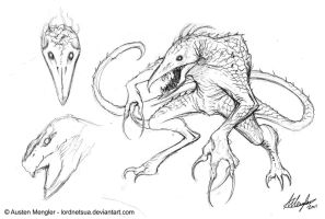 Creature Design: Initial concept sketch by LordNetsua