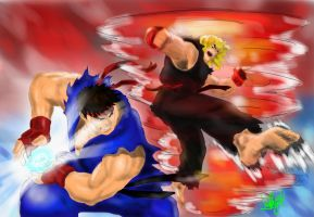 Street Fighter Ryu vs Ken by Volkan516