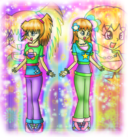 Twin sisters by Jenna2000