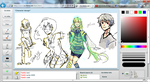 iScribble fun with mah friend gluee by Toki-G