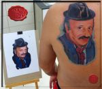 photorealistic potrait tattoo by loop1974