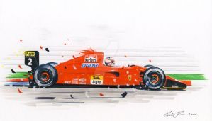 Mansell in action by klem